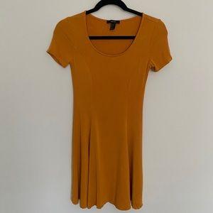 Forever 21 Mustard Skater Dress